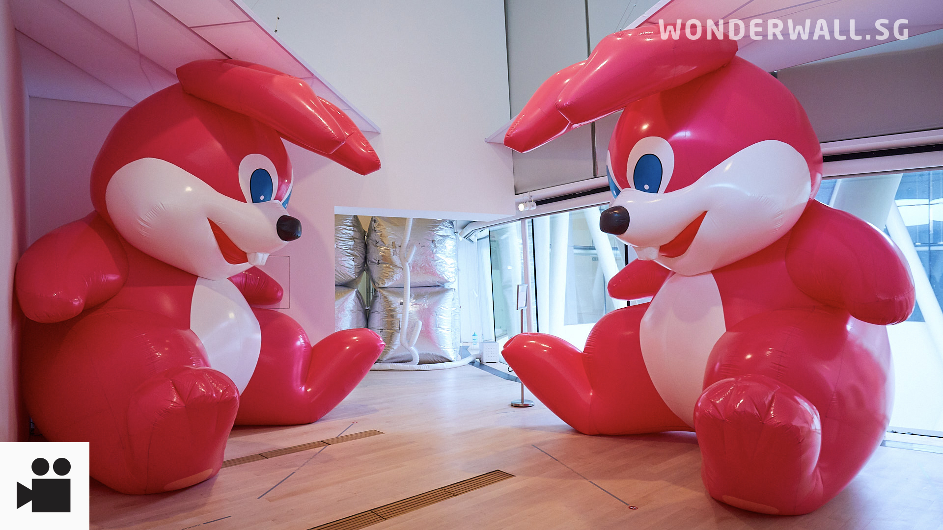 "Check Out Giant Bunnies And A Massive Moon At ""Floating Utopias"" Exhibition"