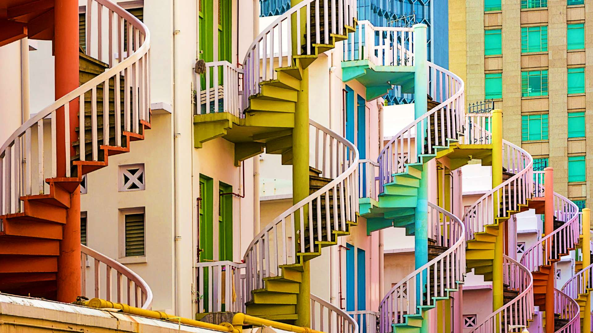 The spiral staircases off Queen Street are bound to make a colourful addition to your IG feed.